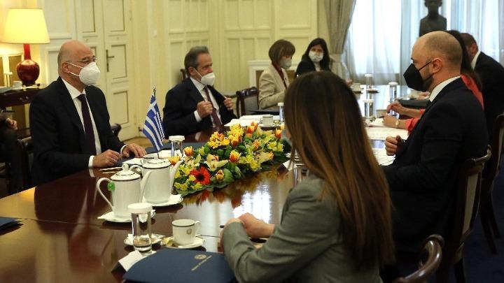 Συνάντηση Ν. Δένδια με τον ΥΠΕΞ του Μαυροβουνίου